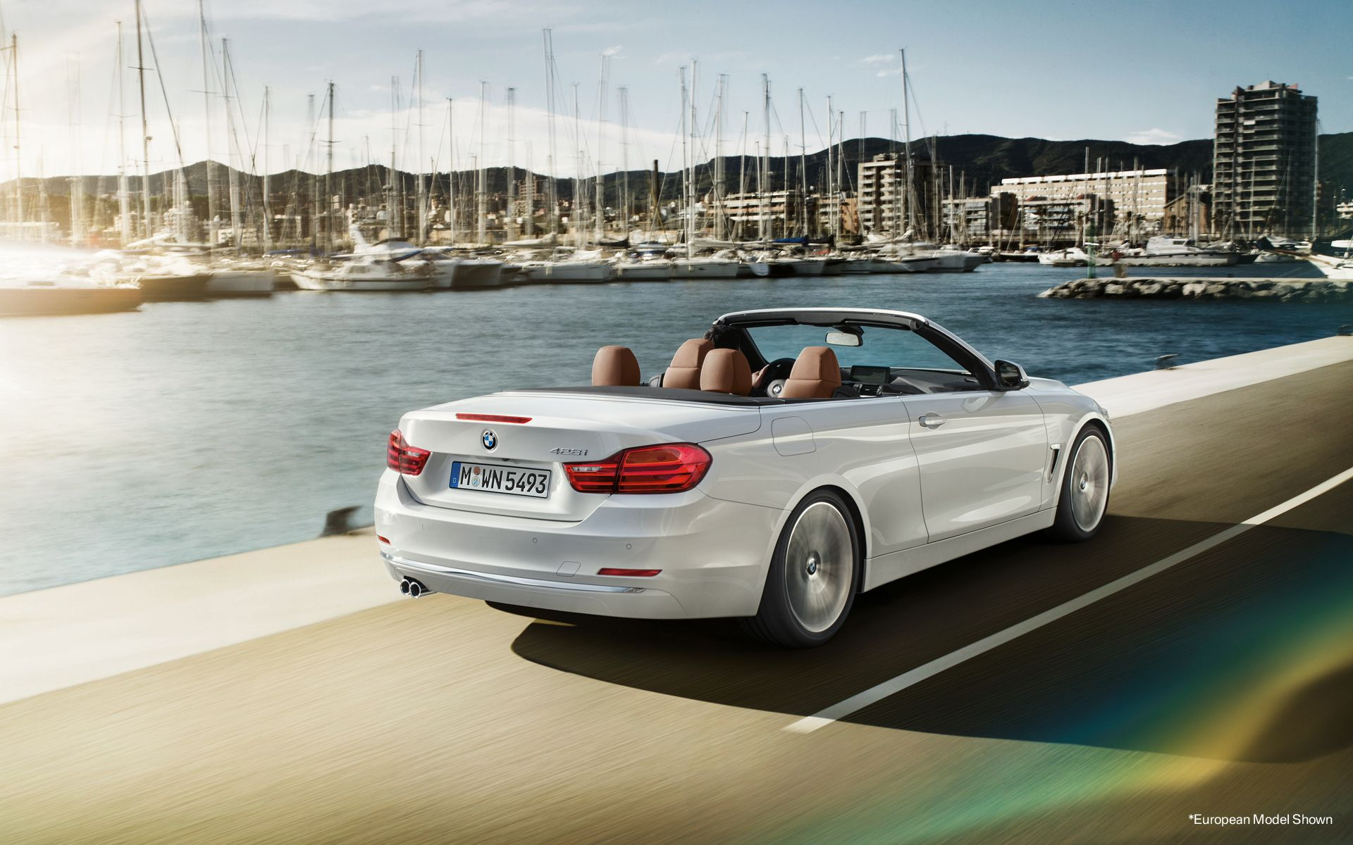 The 4 Series Convertible In Mineral White Metallic Vemma With