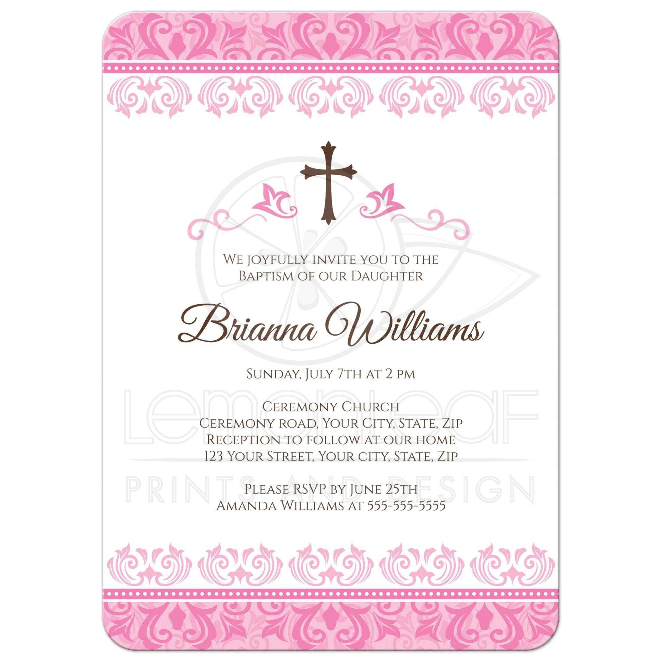 pin on baptism invitations