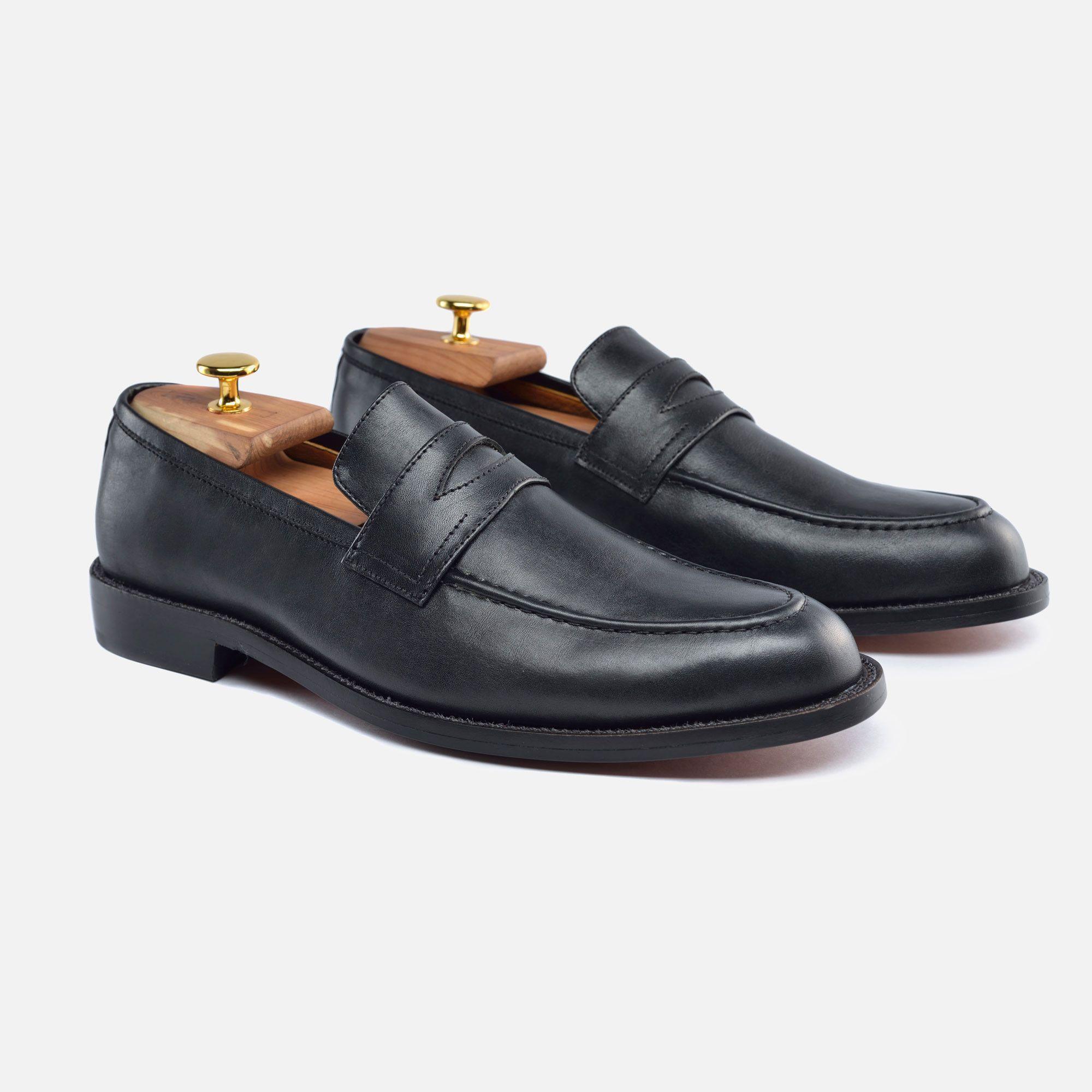 Men's Loafer - Black Calfskin Leather