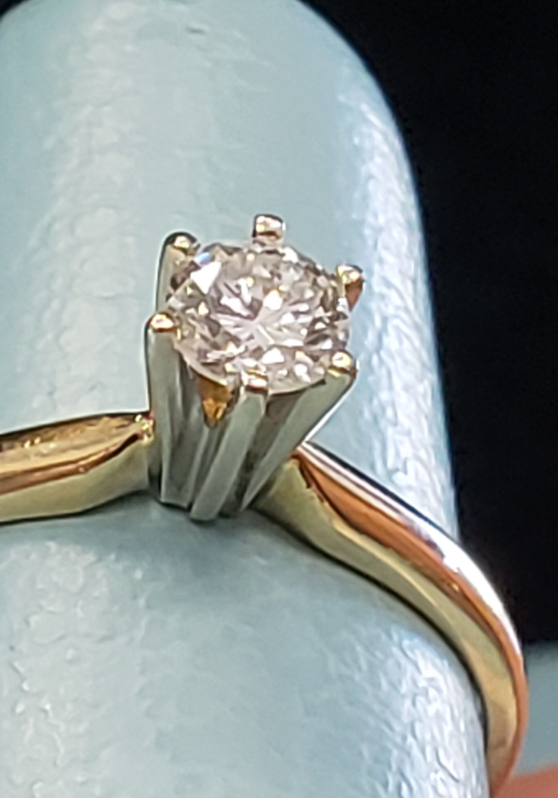 Yellow Gold Band With White Gold Crown Jewelry Exchange Jewelry Jewelry Repair