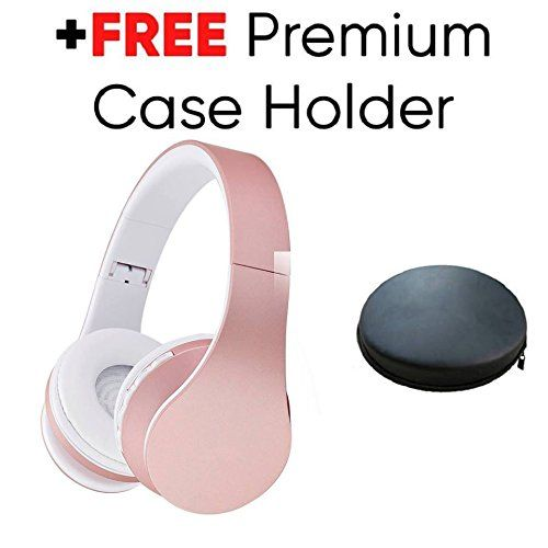 Powerlocus Wireless Bluetooth Over Ear Stereo Foldable Headphones Wired Headsets Rechargeable With Built In Microphone Headphones Wireless Bluetooth Headsets