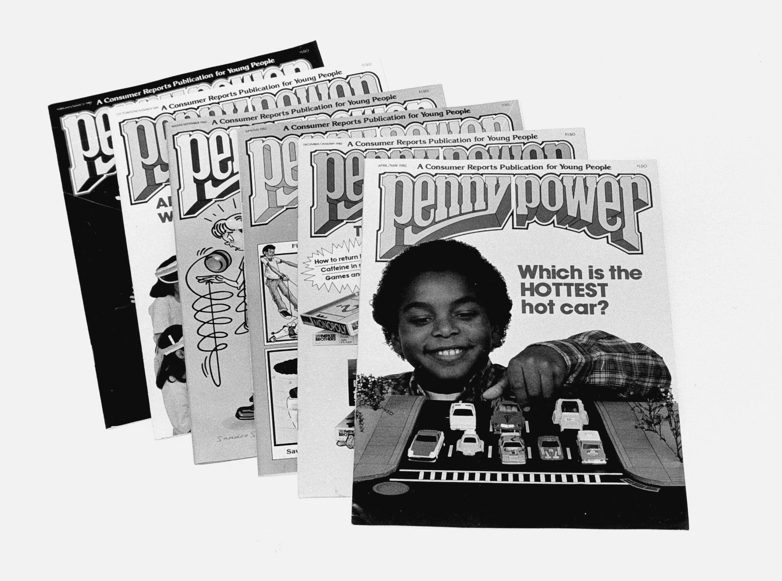 Penny Power, 1980's: Aimed at educating younger consumers to prepare them for the marketplace, Penny Power (later named Zillions) focused on topics such as what backpacks video games and snack foods to buy and how to save money from a summer or part-time job.