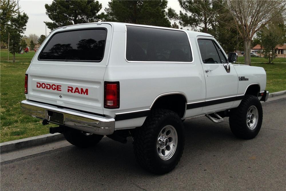 1989 DODGE RAMCHARGER CUSTOM SUV - Rear 3/4 - 152120 | Trucks ...