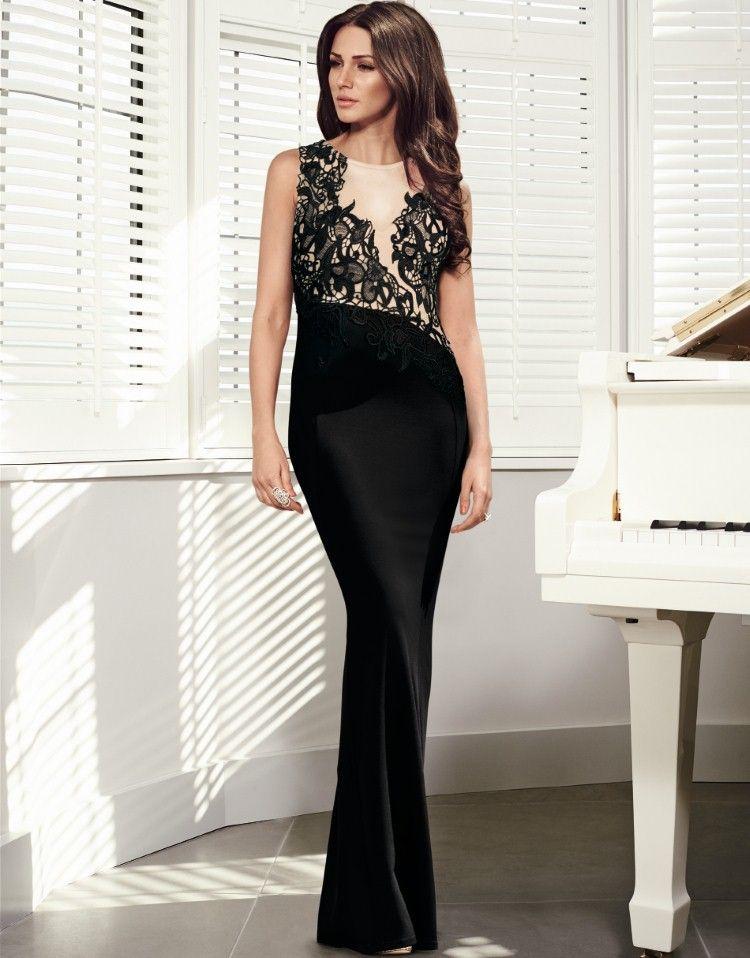 846ba5cdf8 Michelle Keegan Mesh Trim Maxi Dress - Lipsy love Michelle Keegan Autumn  Collection