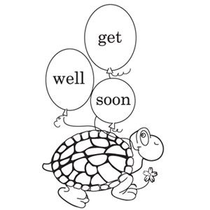 Get Well Soon Print and Color Greeting