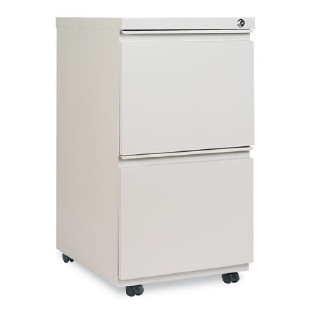 Alera Mobile 2 Drawer Pedestal File With Casters And Full Length Pull