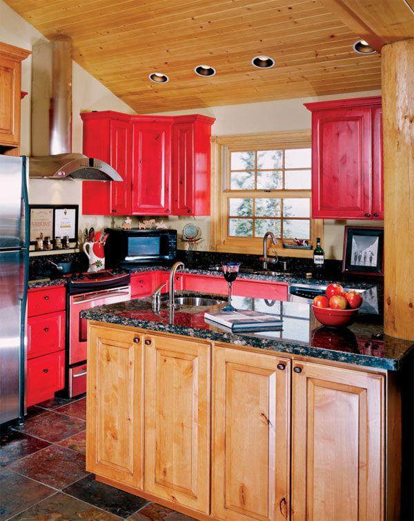 Best Cabin Kitchen Ideas Log Home Kitchens Rustic Kitchen 400 x 300