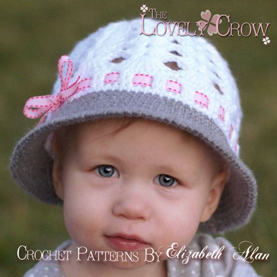 Baby Hat Crochet Pattern For My Angel Baby Cloche Digital Angel
