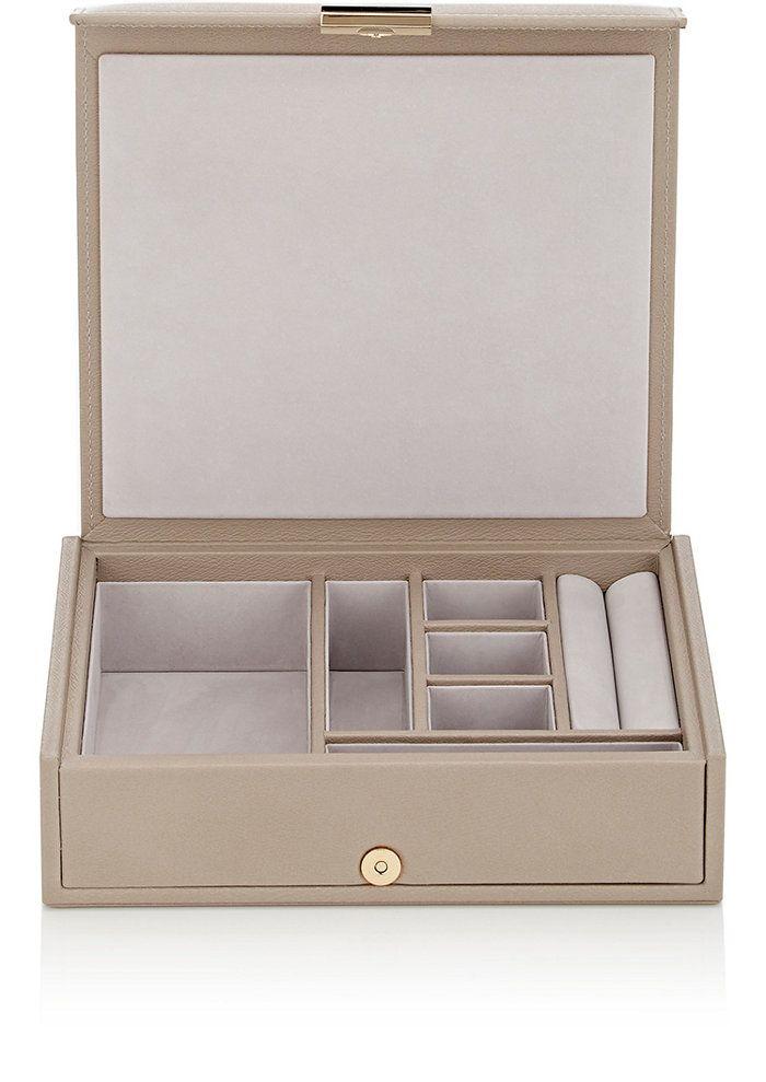 88f19b7c4a8c Smythson Grosvenor Small Portable Leather Jewelry Tray