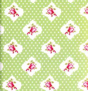 green rose polka dot fabric