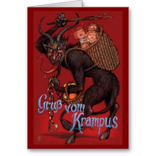 krampus   Krampus Card   Zazzle.co.uk