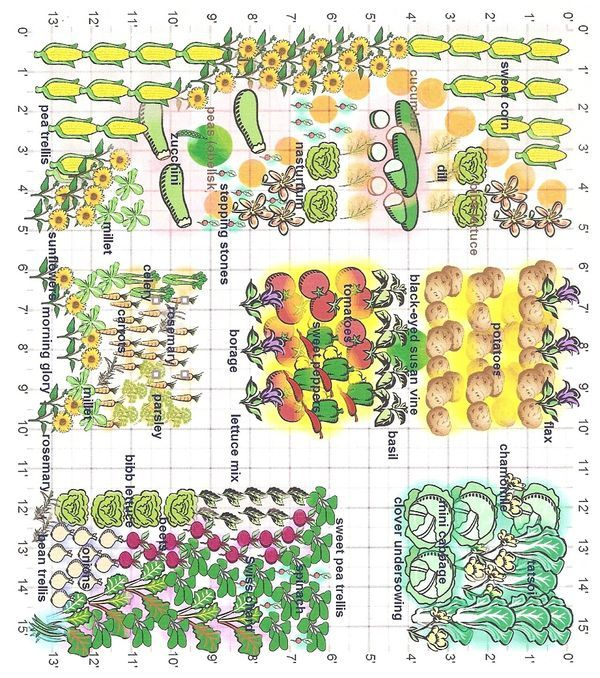 I created this diagram of my garden layout with a new garden – Planning My Garden