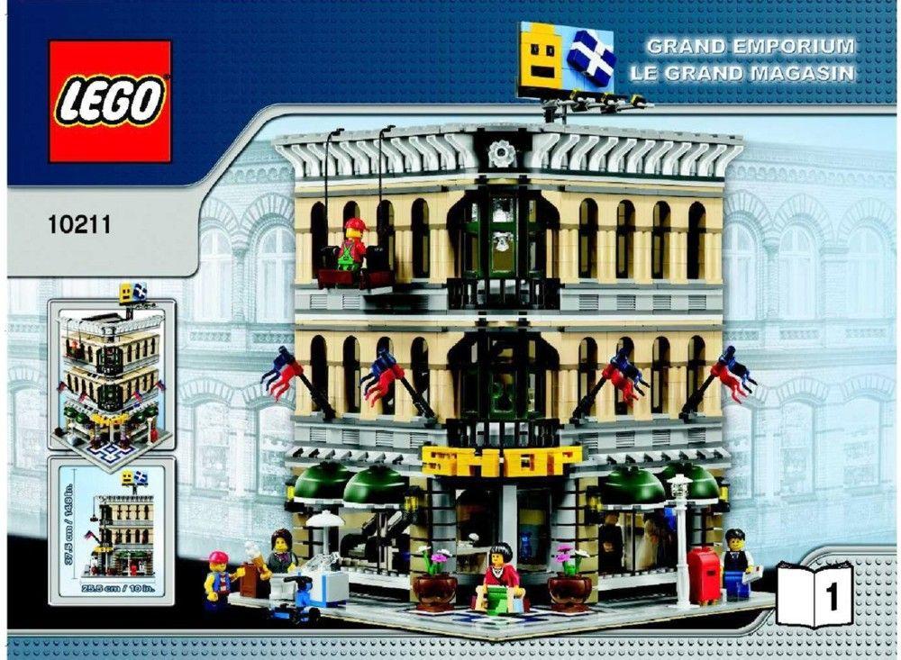 Town Grand Emporium Lego 10211 Lego Instructions Pinterest