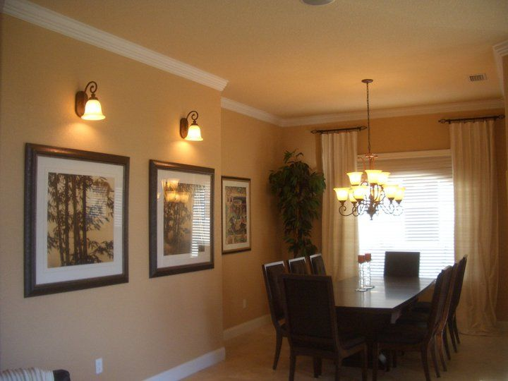 view of dining rooms area with crown molding