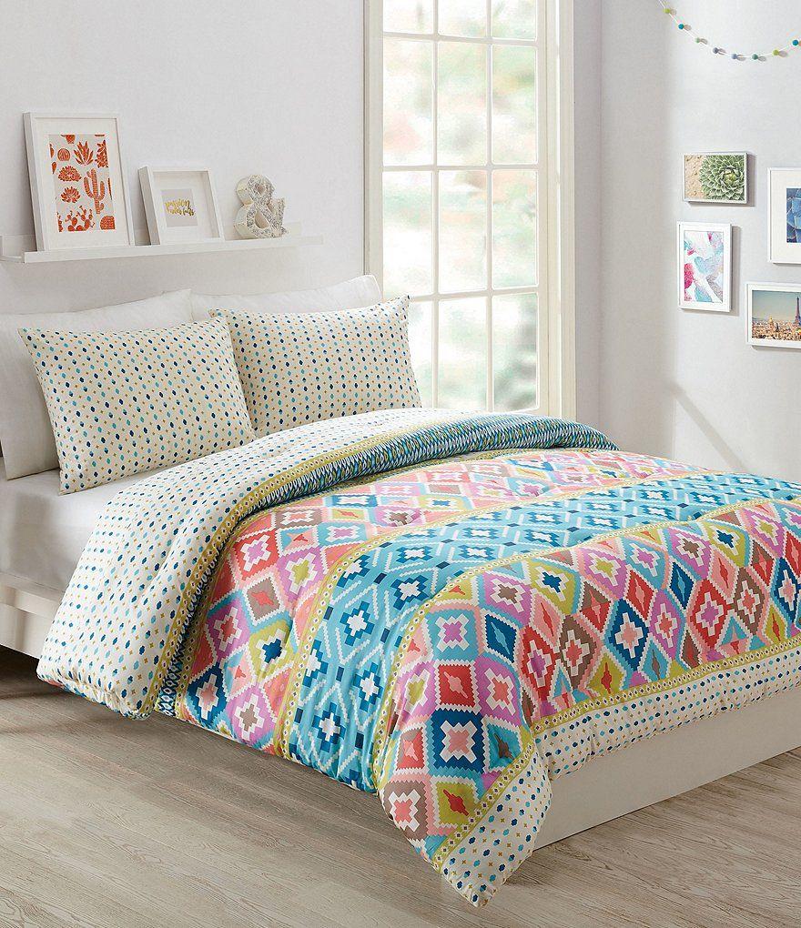 Hacienda Diamonds Comforter Mini Set From Vera Bradley Bright