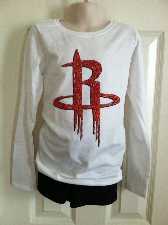 3d2185a2 Houston #Rockets Bling Shirt by LindseyNitzschke on Etsy, $53.00 ...