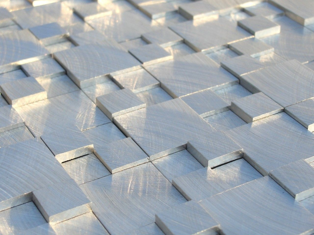 Brushed Aluminum Kitchen Backsplash