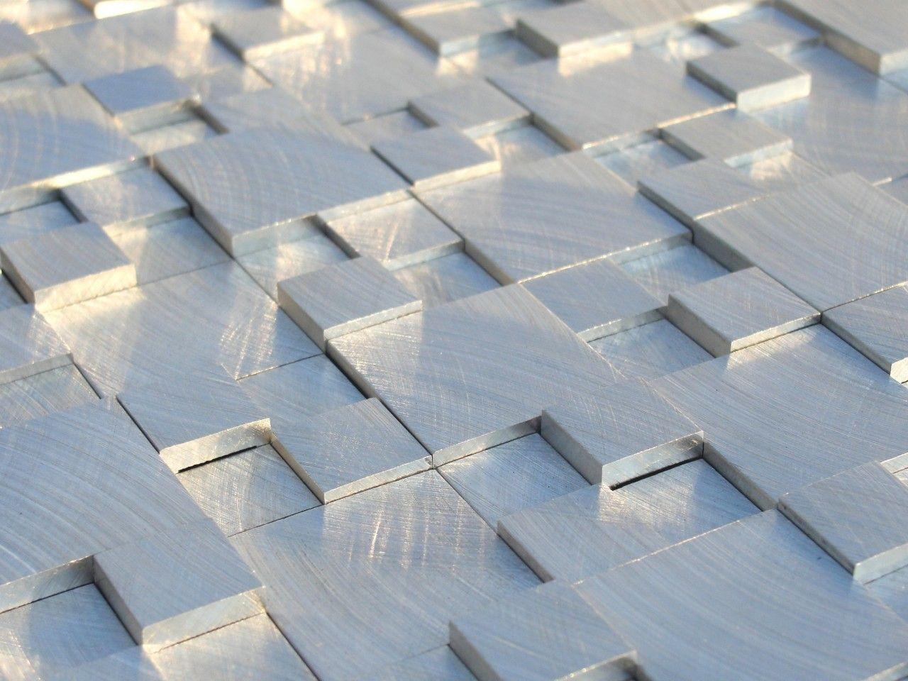 Aluminum Mosaic Tile 3d Raised Pattern Beadboard