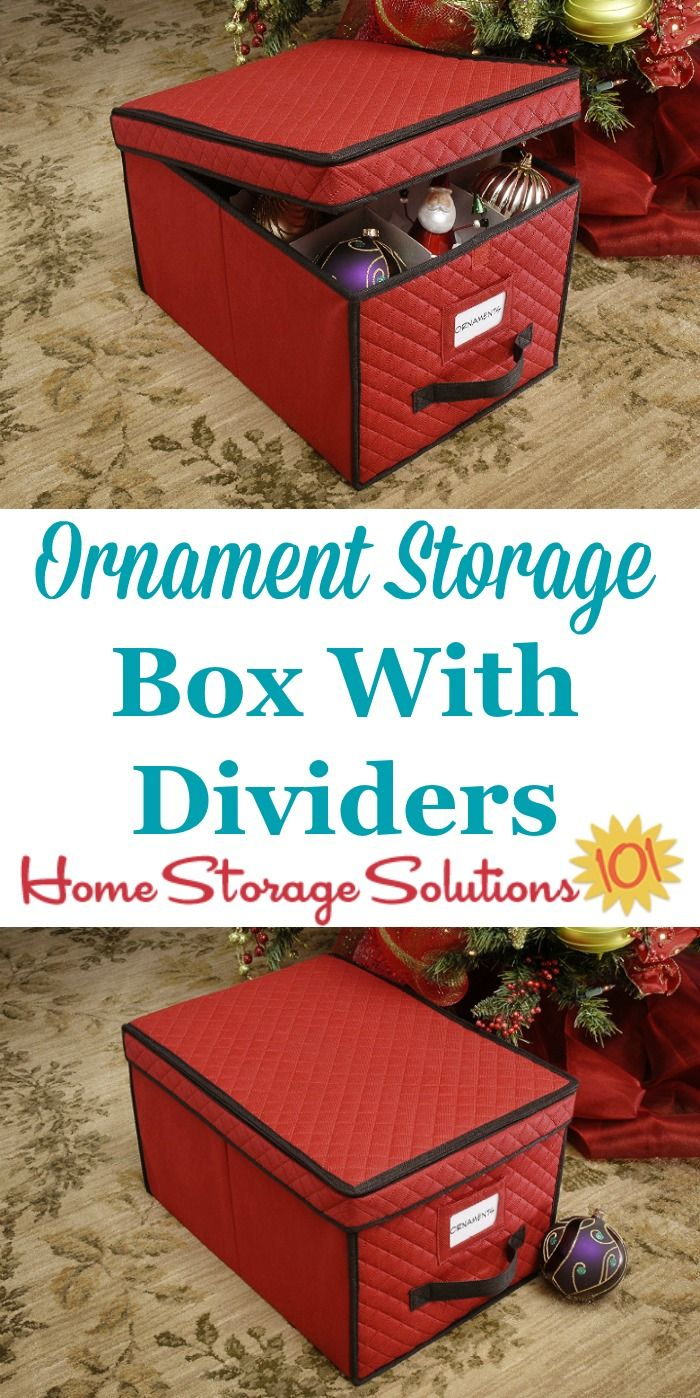 Attrayant This Christmas Ornament Storage Box Holds Up To 24 Large Ornaments, With  Dividers To Keep The Pieces Both Organized And From Touching Each Other To  Prevent ...