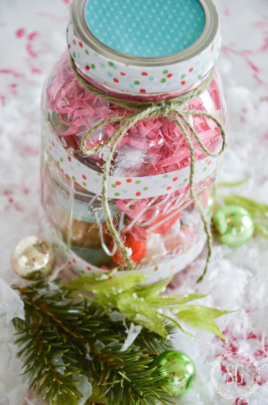 tea lovers mason jar christmas gift idea diy