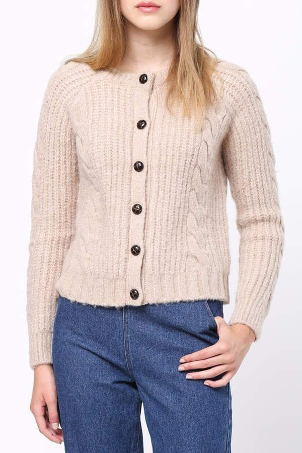 Movint Cable Knit Button Cardigan 4d6fdba6e