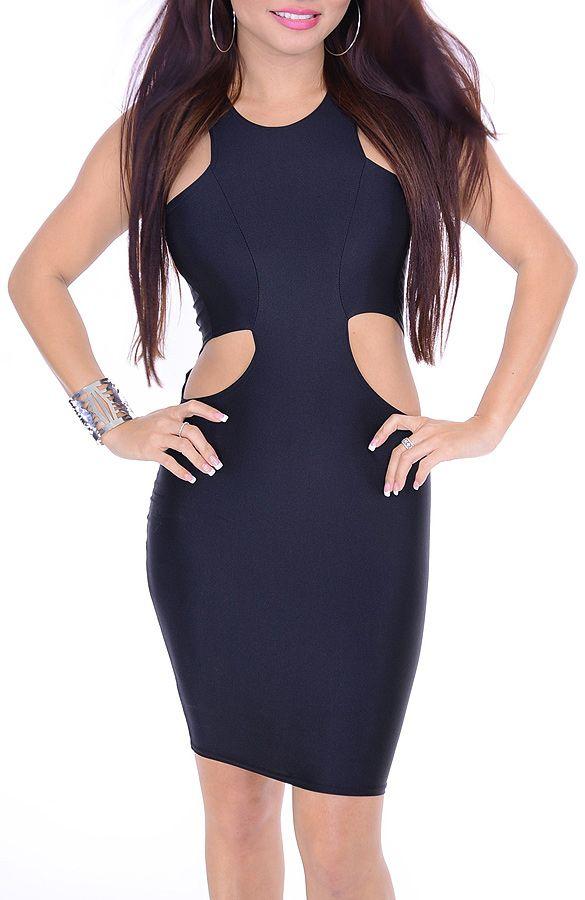 Black sexy tight dress