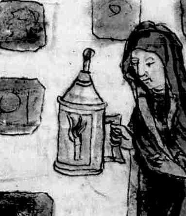 Spiegel menschlicher Behaltnis. 'Lazarus'. Teichner Bayern/Österreich, 2. Hälfte 15. Jh. Cgm 534  Folio 104