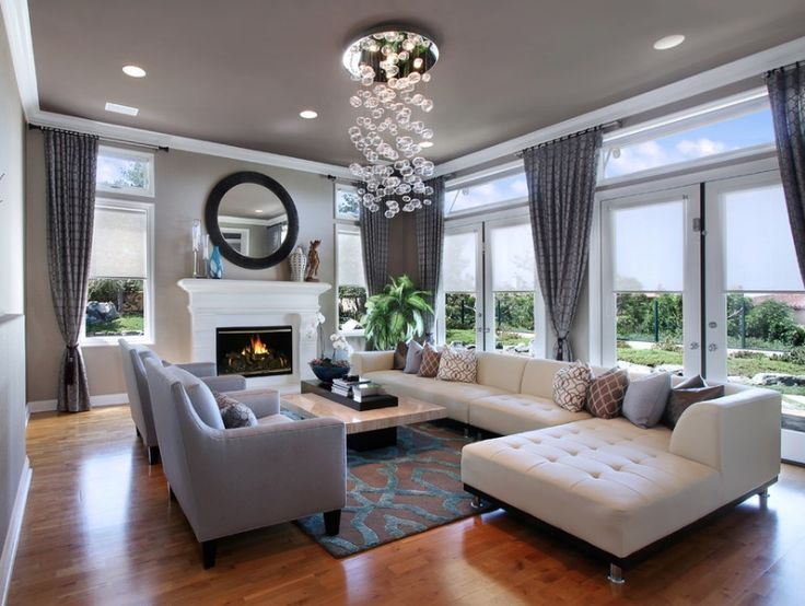 Contemporary Living Room Light And Clean