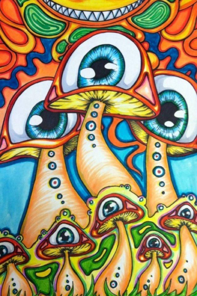 trippy alien drawings google search