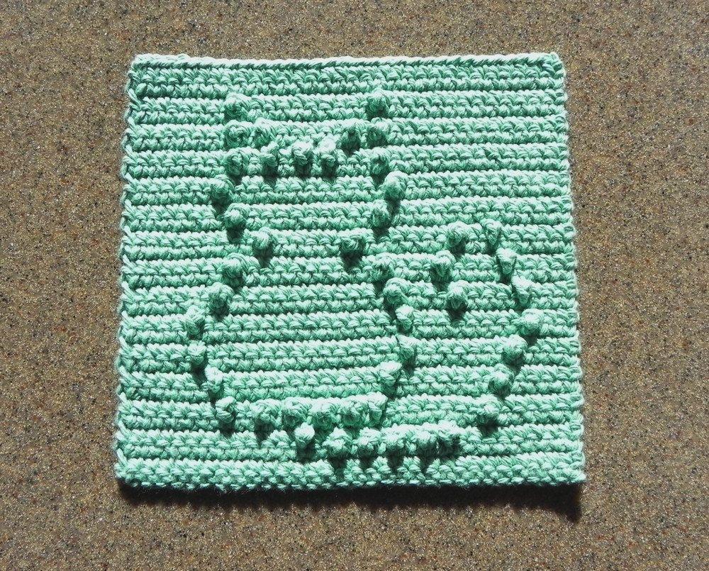 Aqua CAT Dishcloth or Wash Cloth, Crochet 100% Cotton, Kitchen ...