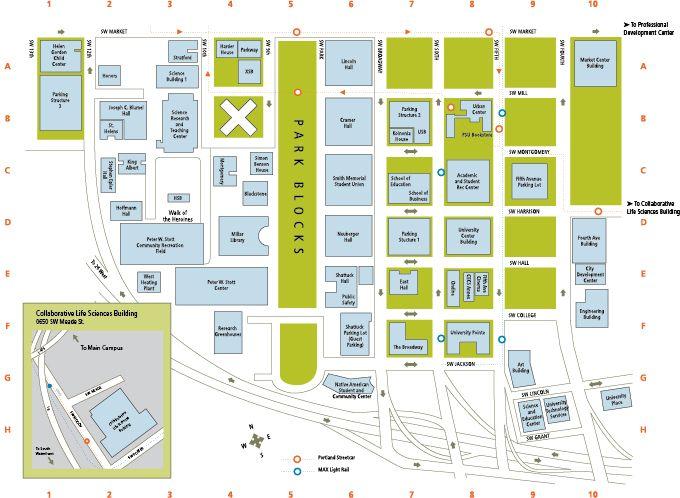 Portland State University  Campus Map  Maps  Pinterest