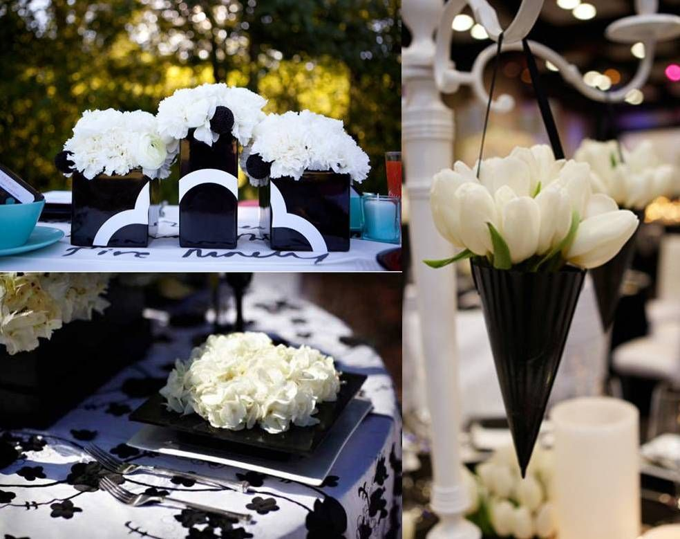 Wedding party decorations very stylish black and white wedding wedding party decorations very stylish black and white wedding decoration weddings on the junglespirit Gallery