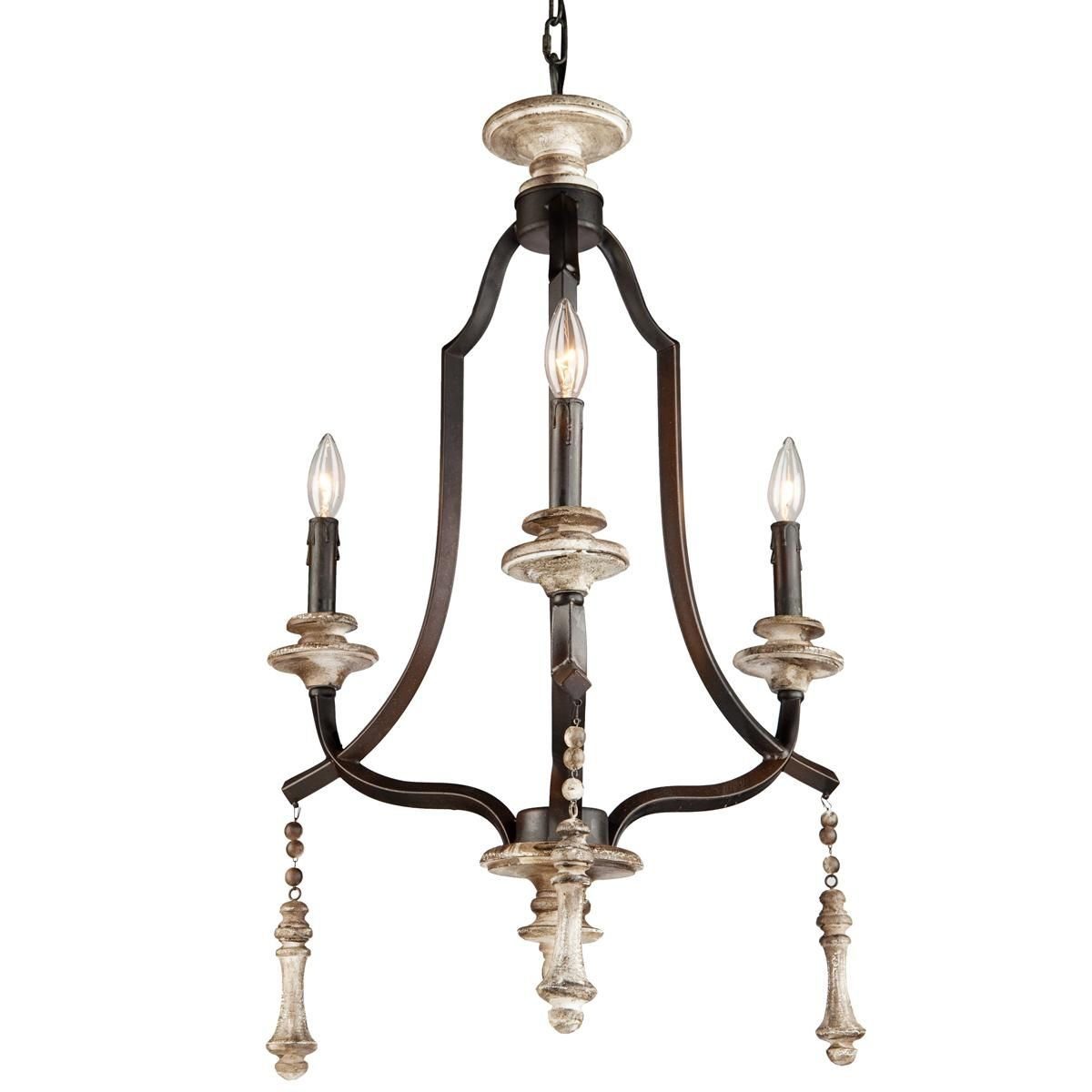 Strata art glass pendant light weathered wood mini chandelier and