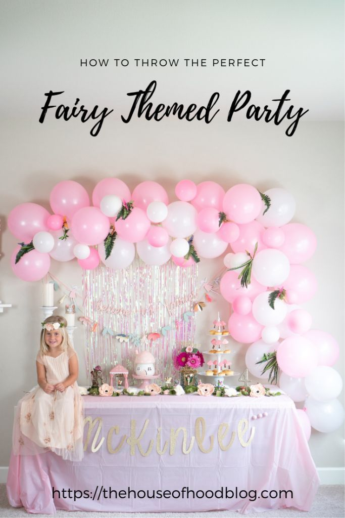 Our Fairy Themed Birthday Party For Daughters Fourth Balloon Garlands Tassels Garland Toad Stools And All The Fairies You Can