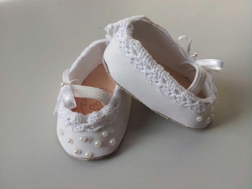 lovely white ballet shoes for Animators dolls