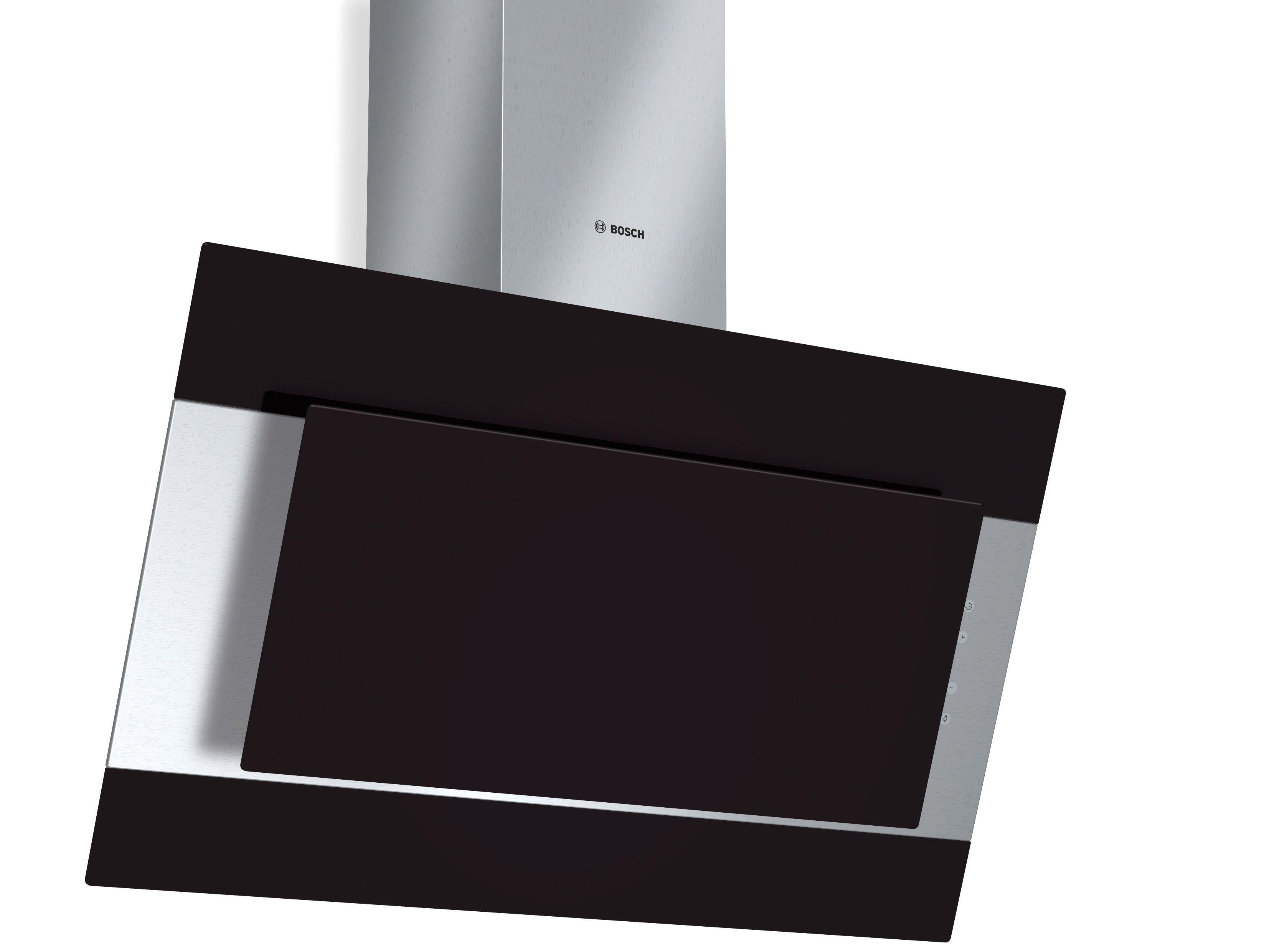 Niet zo gecharmeerd van wit? Dan is de Bosch Colorglass afzuigkap er ook in het zwart.