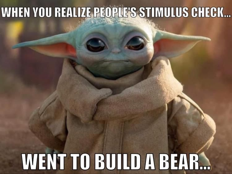 Baby Yoda Build A Bear Yoda Funny Yoda Meme Star Wars Jokes