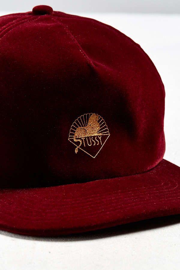 d32568abf5d ... usa stussy gold velvet baseball hat baseball hats stussy and latest  styles 95012 e0934