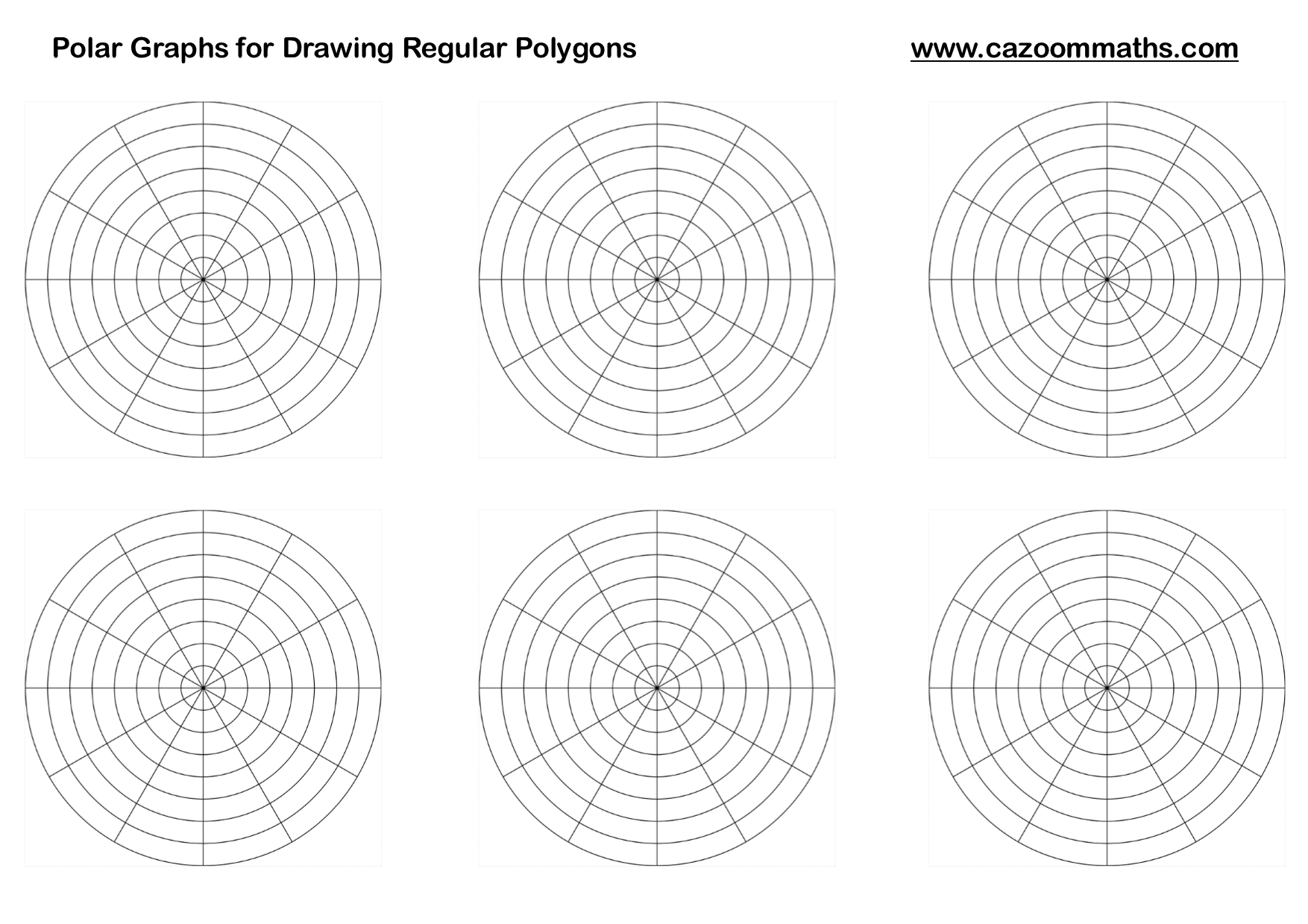 Polar Graphs For Drawing Regular Polygons  Math