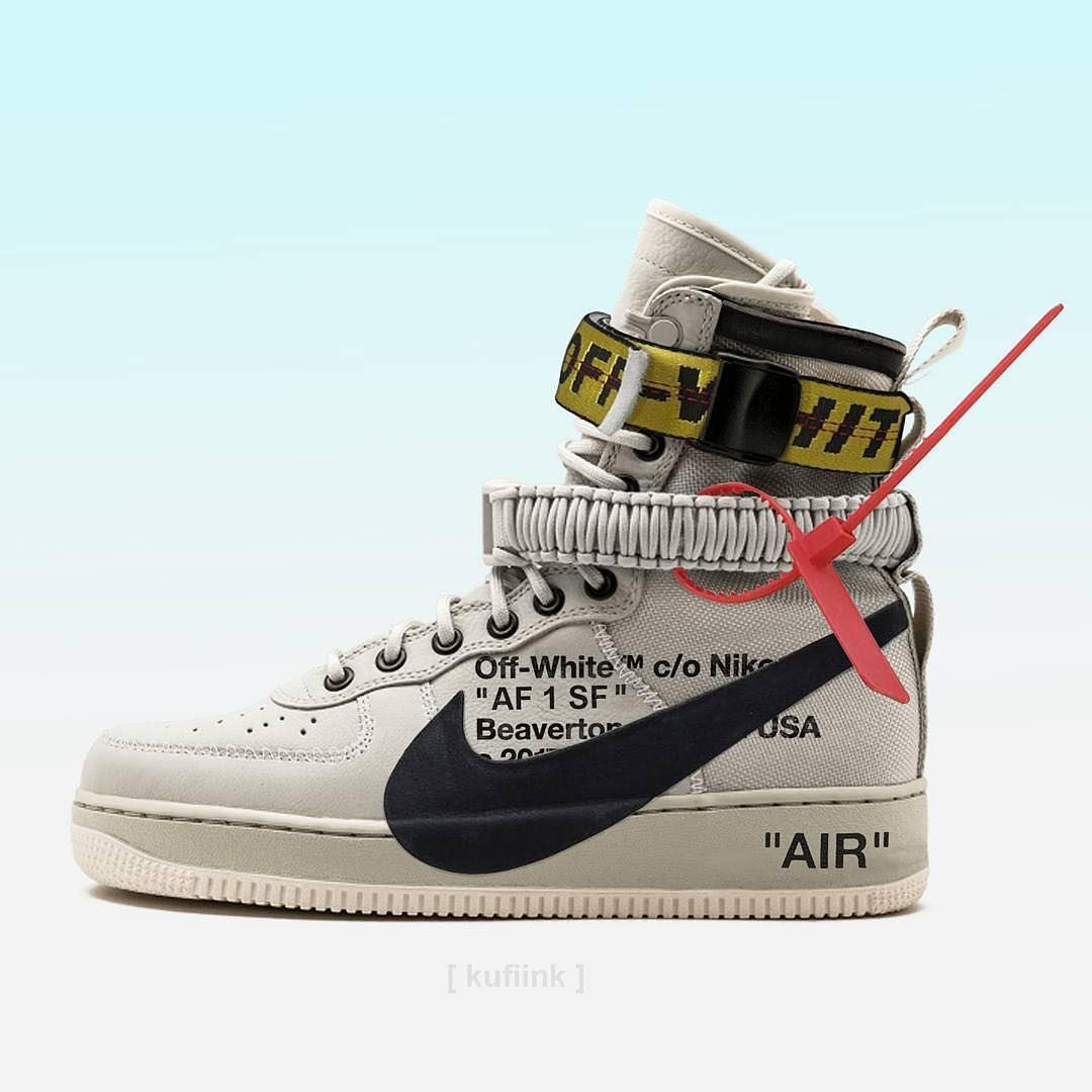 4a01f0325 PICKUP or PASS if this collaboration happened  Off-White x AF1-SF.   SolelySneakers  OffWhite  AF1SF Photo   kufiink