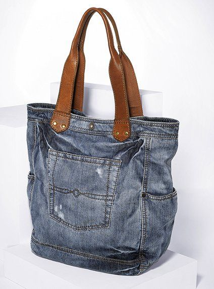 old jeans into a bag: #bags