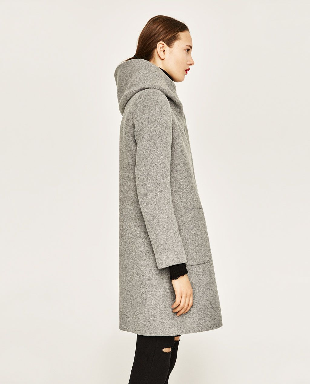 COAT WITH WRAP COLLAR from Zara  208e238a0a44