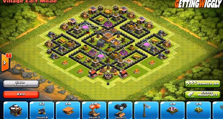 Clash of Clans visual of best Town Hall level 8 defense | Clash of clans,  Clash of clans app, Defense