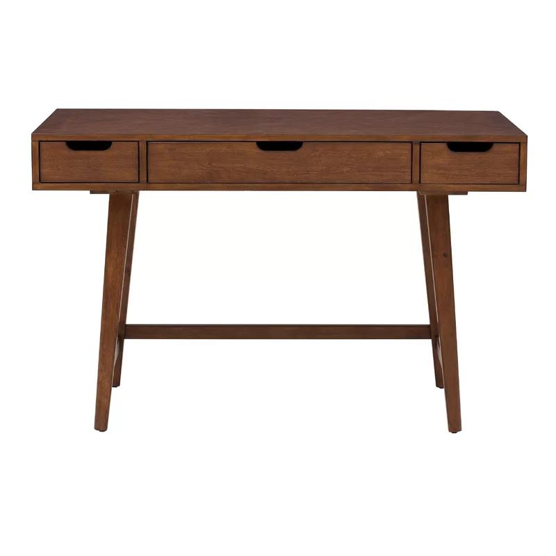 Nathan Solid Wood Desk Reviews Allmodern Mid Century Writing Desk Wood Writing Desk Writing Desk Modern