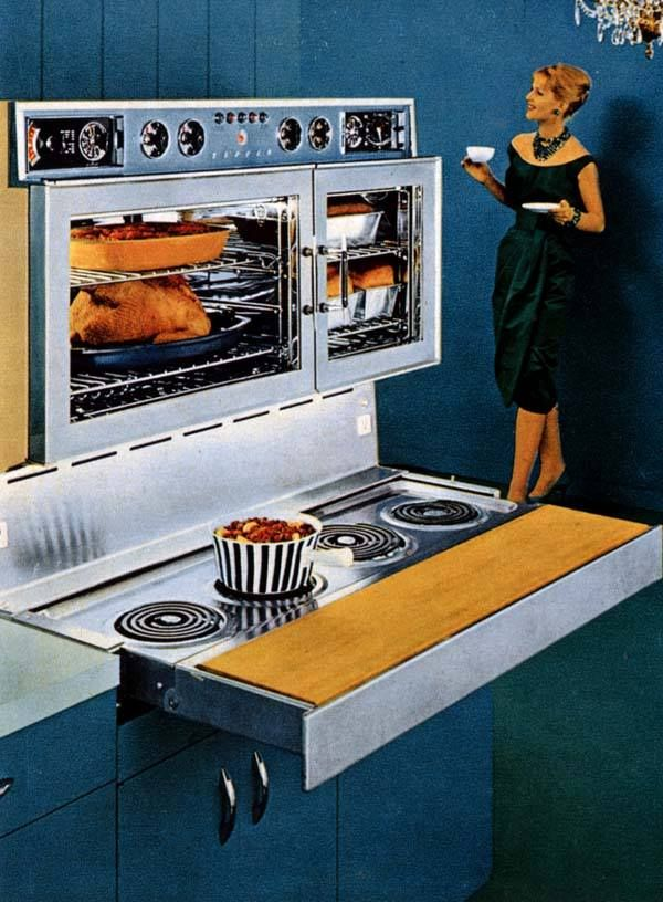 1959 Tappan Fabulous 400 The Burners Were On A Pull Out Shelf For Space Saving Sleekness Vintage Kitchen Vintage House Vintage Appliances