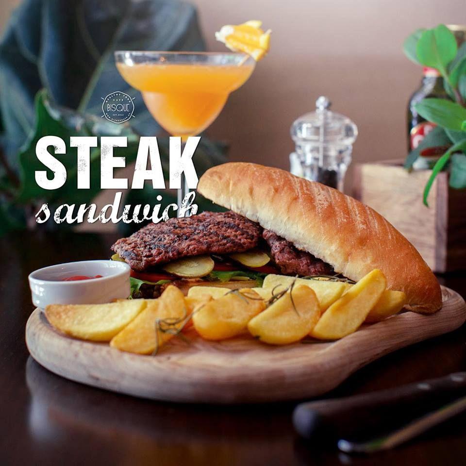 Steak sandwich #bisquecafe #beatgroup #tasty #baku #azerbaijan #summer2015 #delicious #europeancuisine #steaksandwich