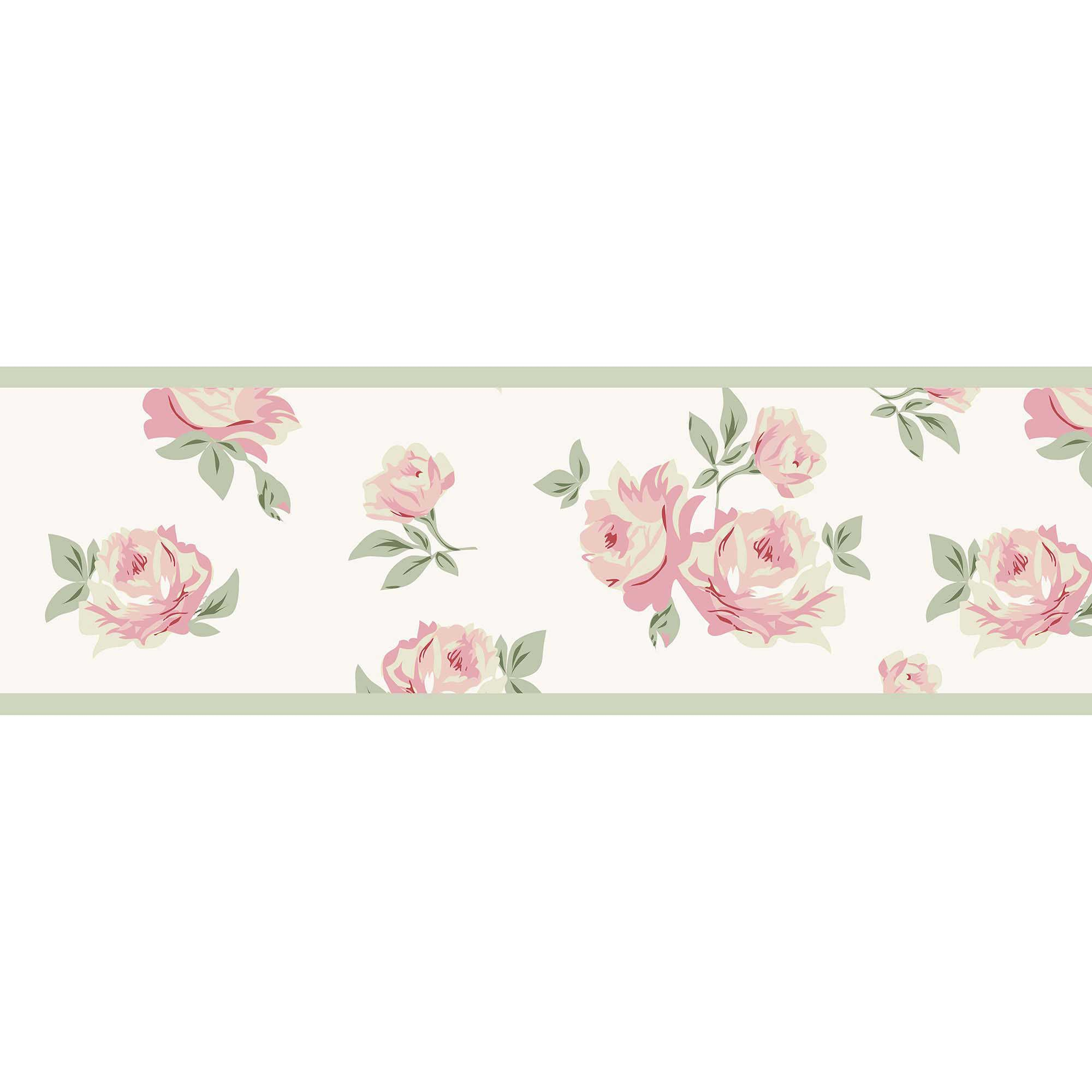 Sweet Jojo Designs Riley 39 S Roses Wallpaper Border Rose Wallpaper Baby Nursery Wall Decor Jojo Designs