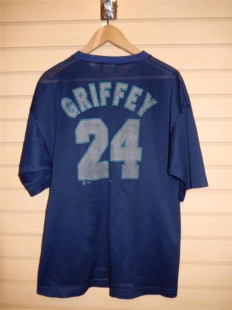 official photos 48318 24a21 VTG 1998 Seattle Mariners Ken Griffey Jr. Mesh Jersey Shirt ...