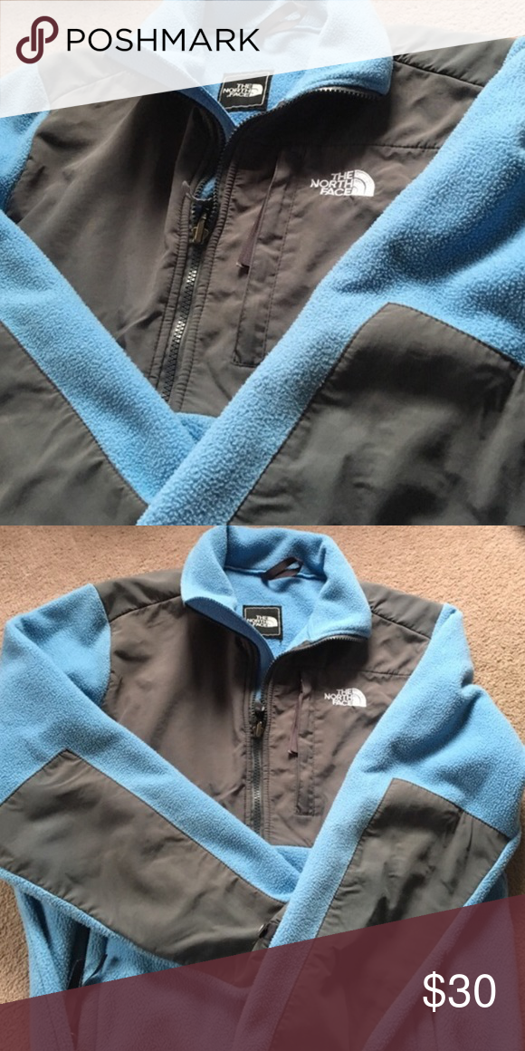 Blue Northface Worn a handful of times, no signs of wear other than the material not being as soft as brand new due to washing. Size medium The North Face Jackets & Coats