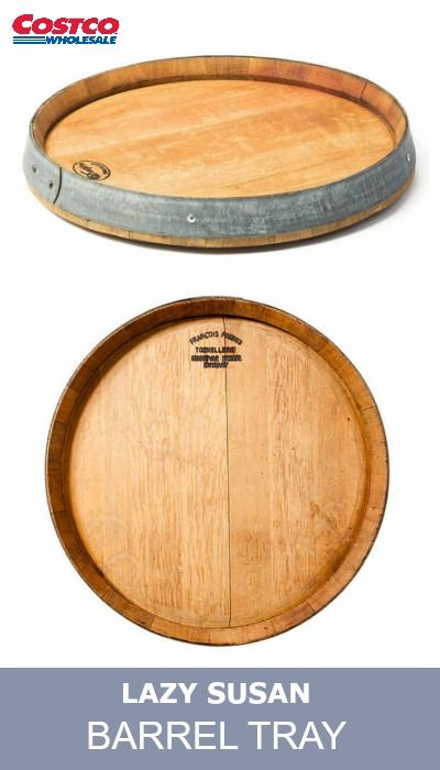 Bring Home The Casual Elegance Of The Winery Lifestyle With This Rustic Lazy Susan Made From Real Recycled Wine Barrels Used In Production For Two To Five Year